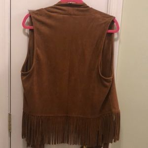 boutique Jackets & Coats - Suede Western Fringe Vest